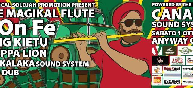 Sabato 1 ottobre a Cagliari il flauto magico di Don Fe per un festival dub solidale con i rifugiati