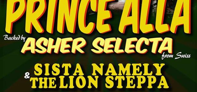Al concerto del 6 maggio a Campidarte con Prince Alla e Asher Selecta anche Steppa Lion